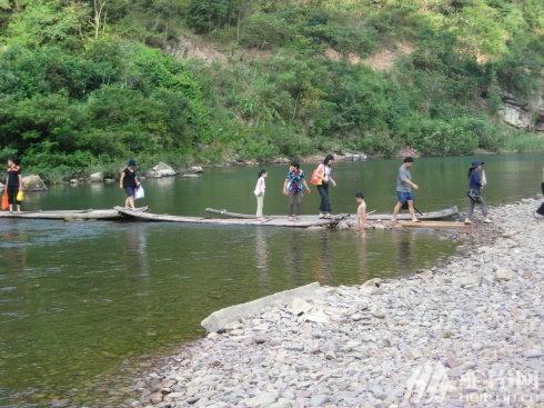 (6)鹿寨古赏河,看两岸杜鹃花,篝火露营。-户外活动图-驼铃网
