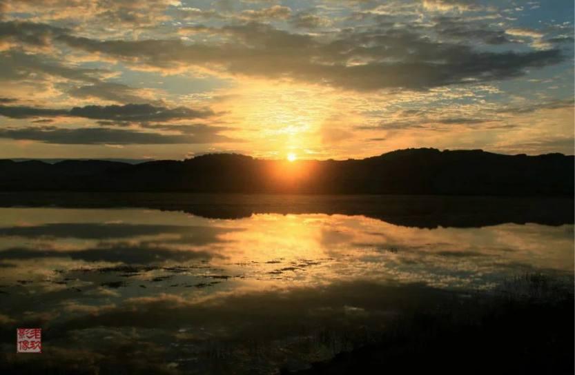 野鸭湖日落
