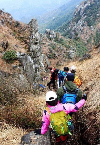 (2)11.25挑战穿越广东小龙斗峰--佛冈猪咸脑山-户外活动图-驼铃网