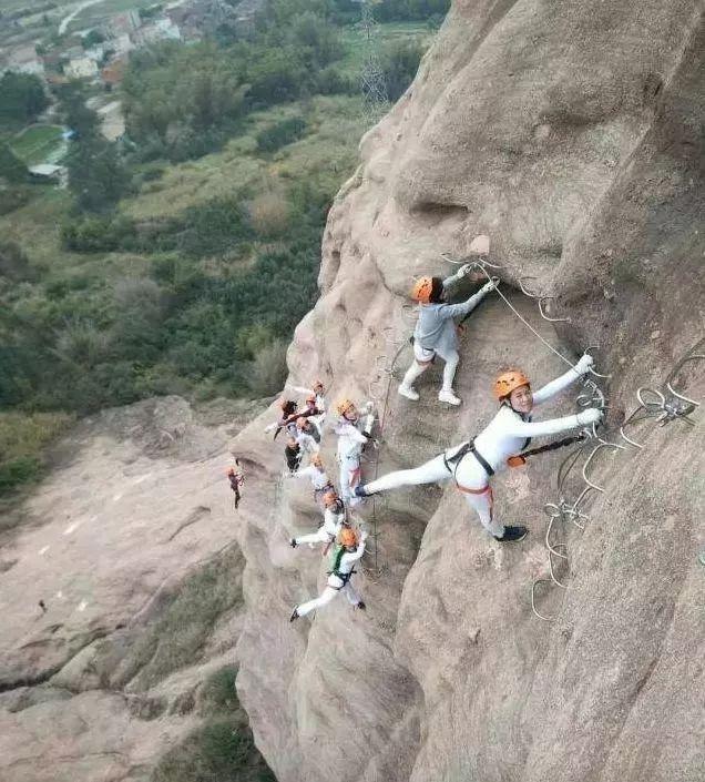 (7)火热报名!每周六日出发,【马头石铁索栈道】| 马头山极限攀岩、亚洲第一高屋顶-户外活动图-驼铃网