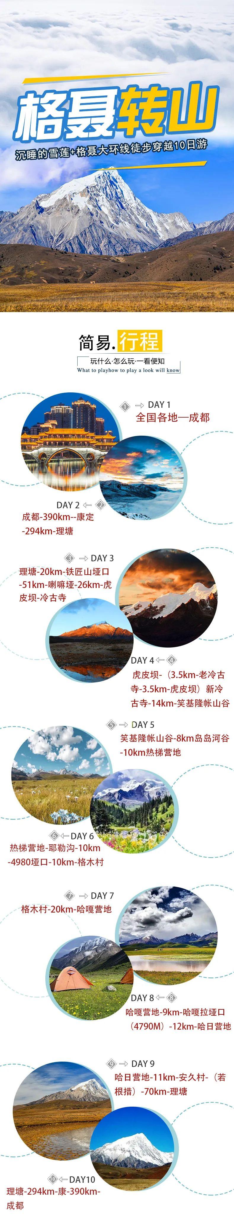 (1)2020【格聂转山】沉睡的雪莲+格聂大环线徒步穿越11日游-户外活动图-驼铃网