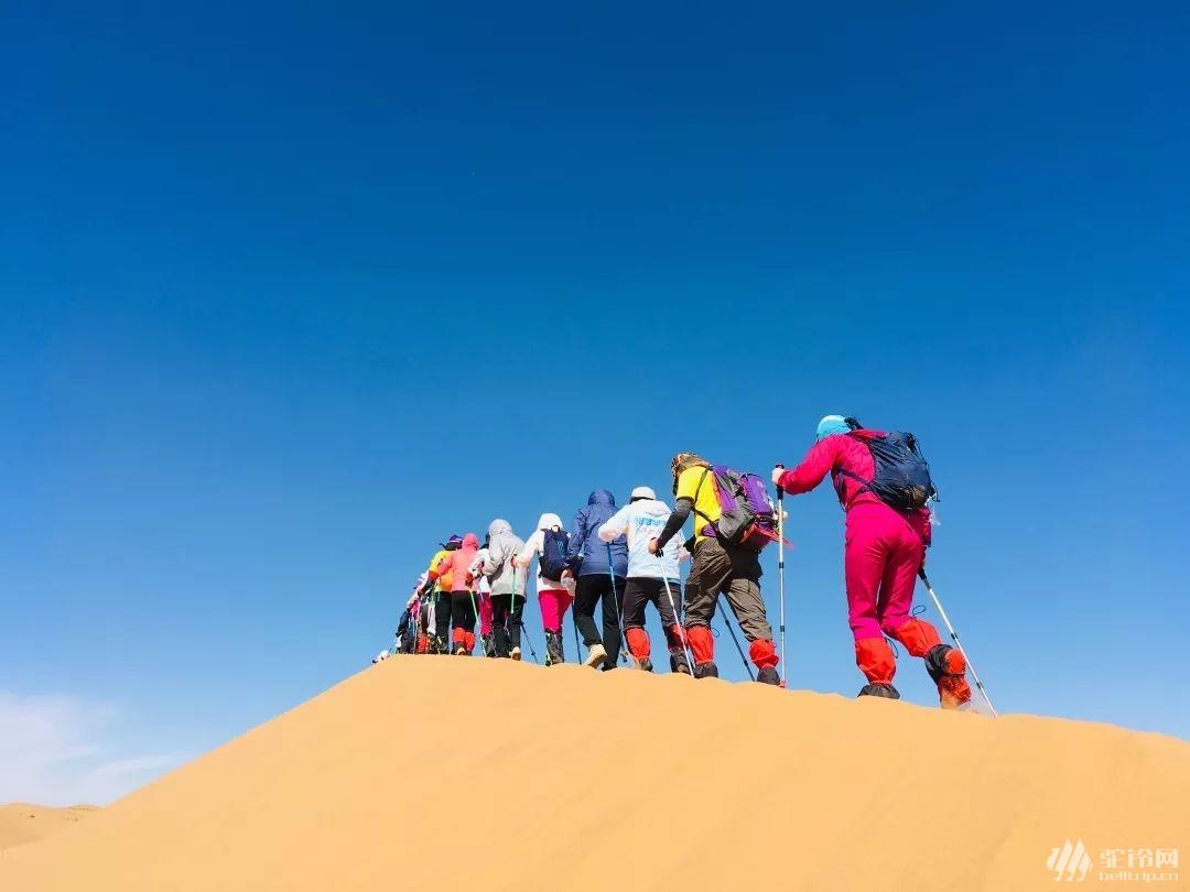 """(24)【2020全年】腾格里沙漠""""五湖连穿""""徒步活动-户外活动图-驼铃网"""