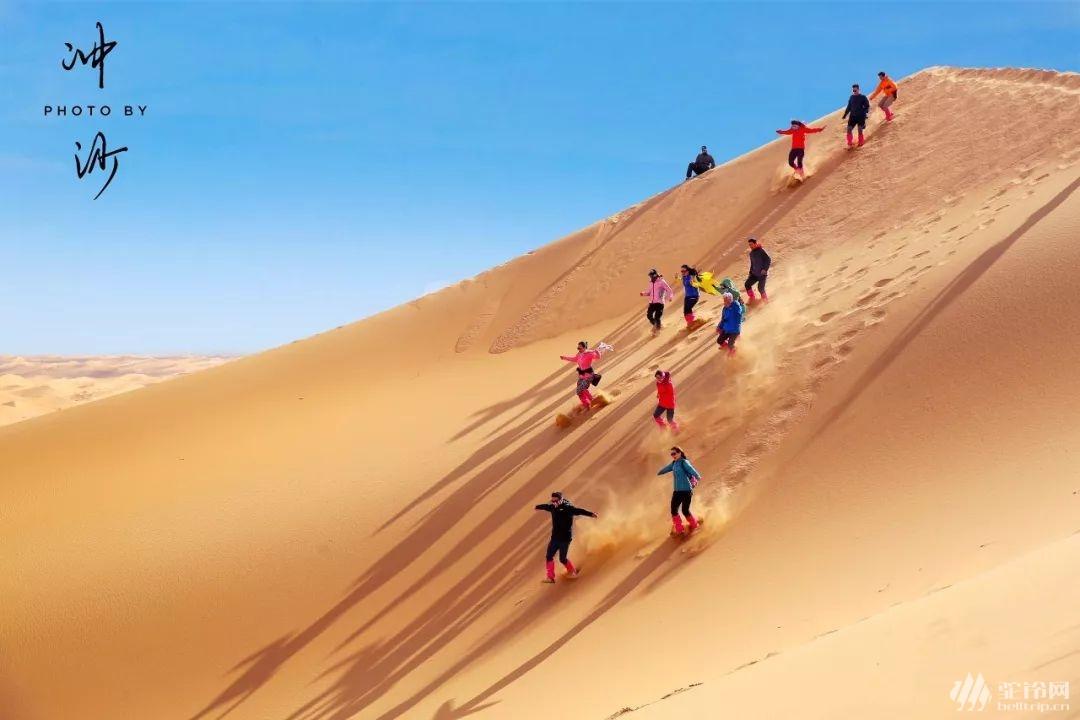 """(17)【2020全年】腾格里沙漠""""五湖连穿""""徒步活动-户外活动图-驼铃网"""