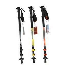 鲁滨逊户外超轻碳素猎人125、135登山手杖3节拐杖外锁防滑透气舒适握把