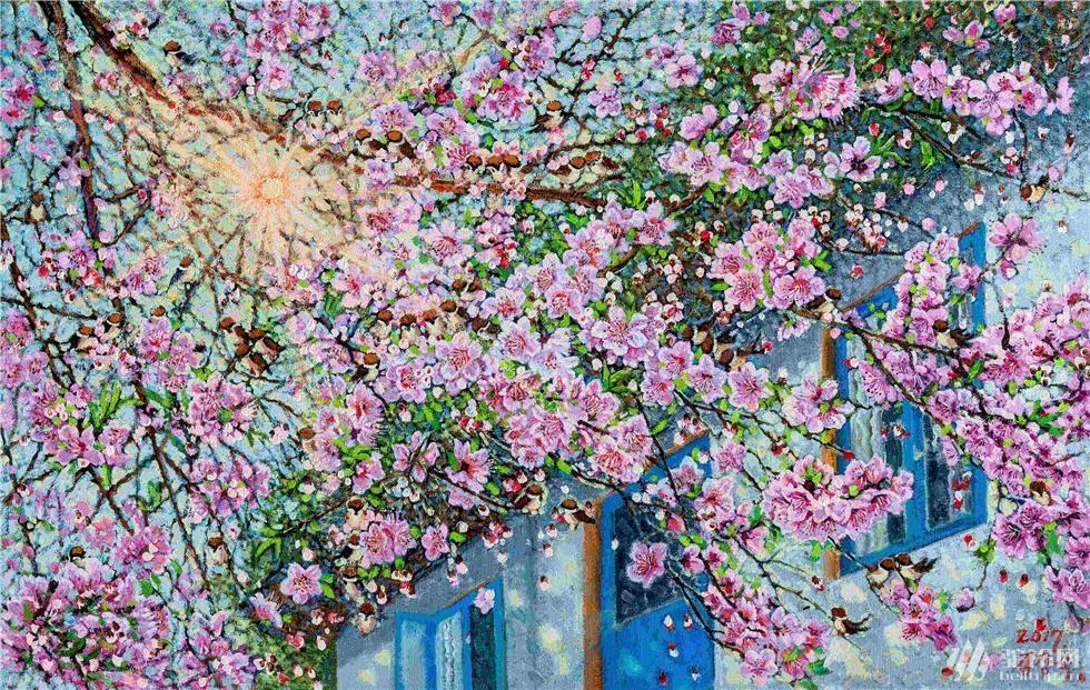 金相淑 《春的香气》  98X62  2017年